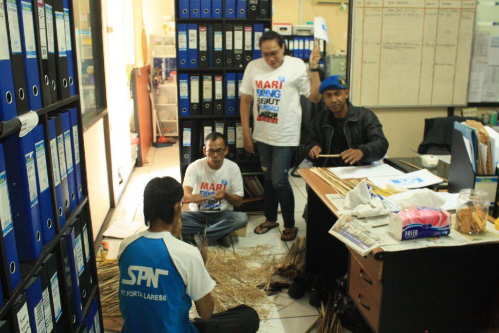 GELIAT PERSIAPAN MAY DAY 2016 DI DPP SPN
