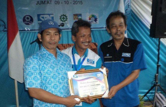 Penghargaan untuk PSP SPN PT. Coats Rejo Indonesia