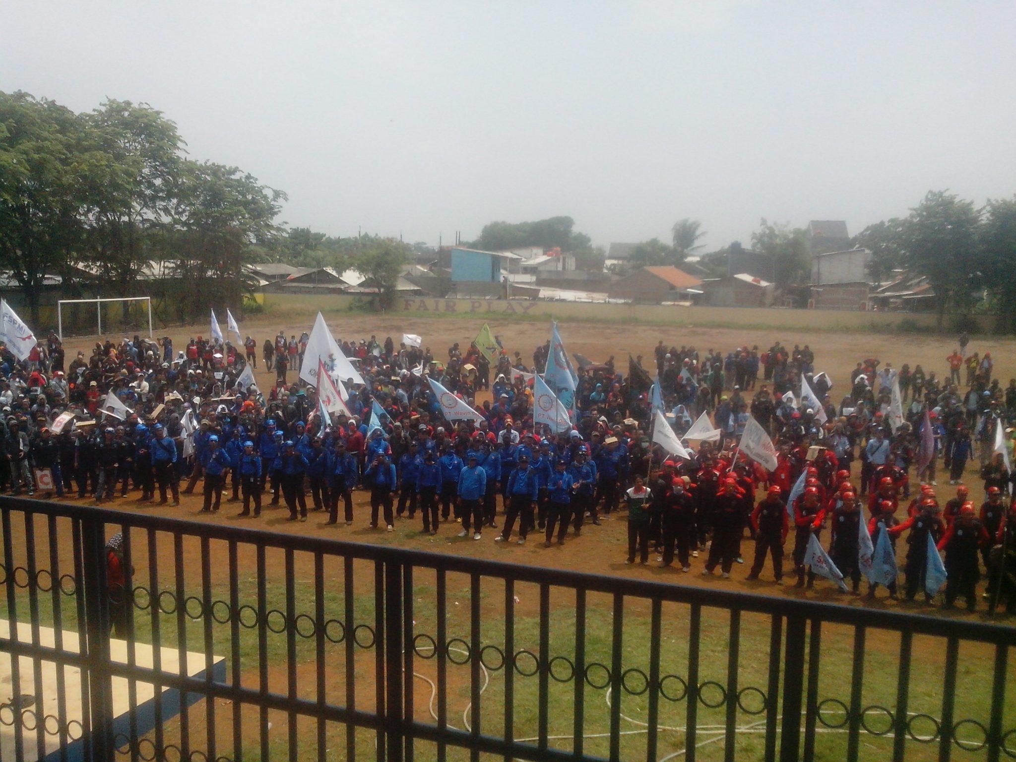 Konsolidasi buruh sekabupaten Bekasi