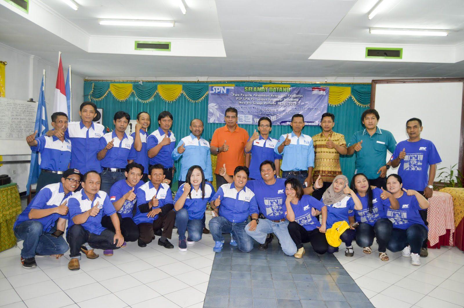 Pelantikan Pengurus PSP SPN PT Golden Footwear Indotama