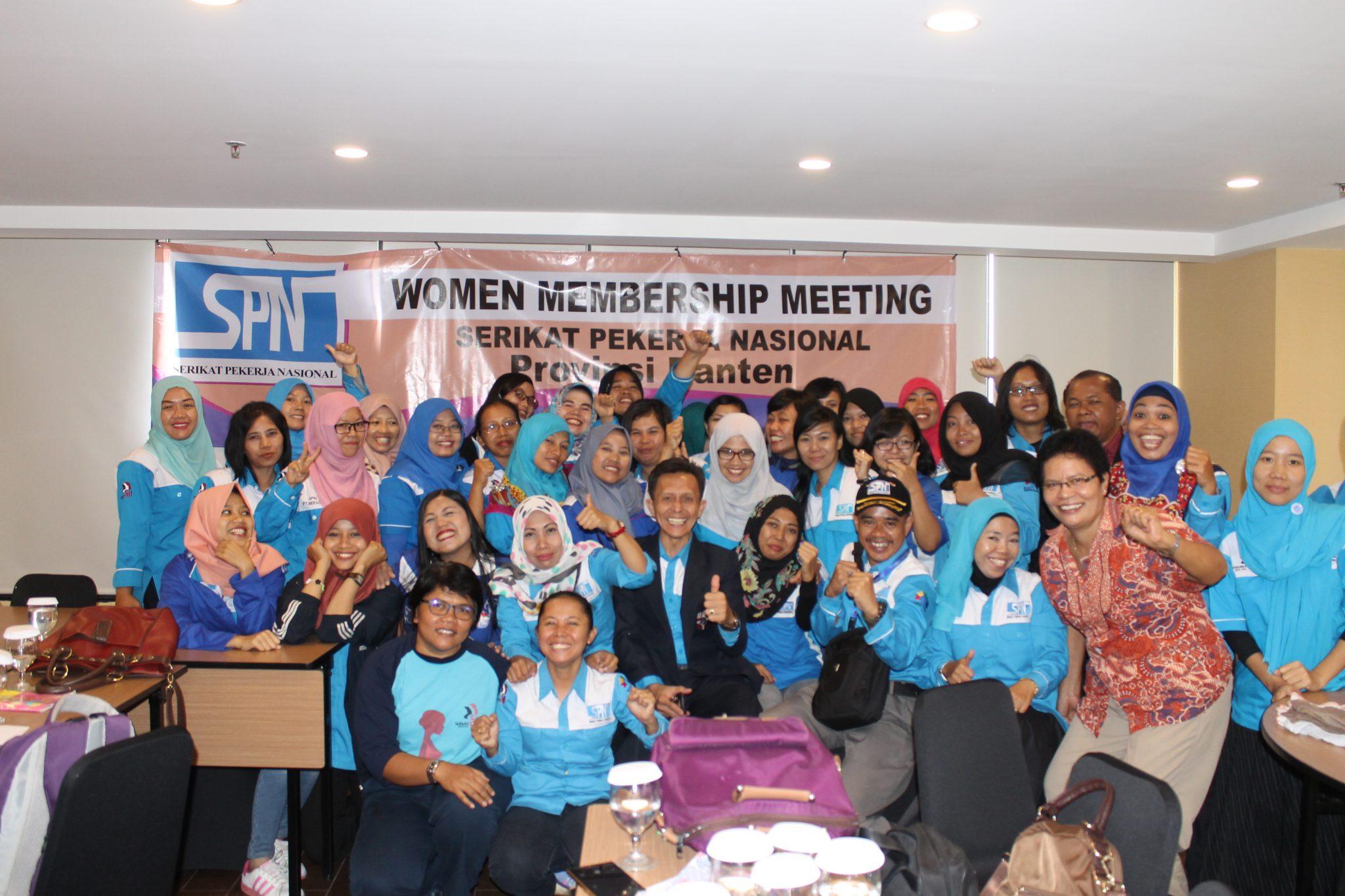 WOMEN MEMBERSHIP MEETING KOMITE PEREMPUAN BANTEN HARI I