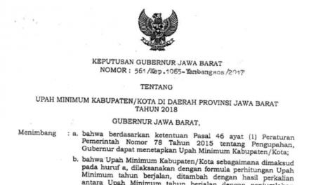 GUBERNUR PROVINSI JAWA BARAT PUN TUNDUK PADA PP NO 78/2015