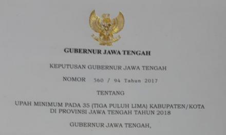 UMK SE- PROVINSI JAWA TENGAH SESUAI DENGAN PP NO 78/2015