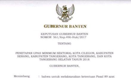 UMSK SEKTOR 5 BENTUK PELANGGENGAN UPAH MURAH DI KOTA TANGERANG
