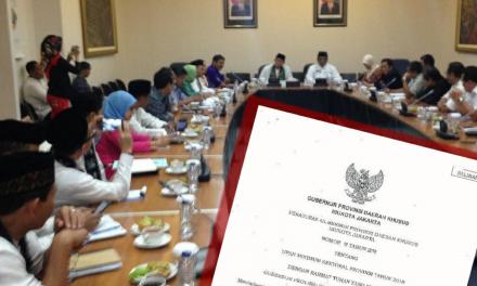 UMSP DKI JAKARTA 2018 DITERBITKAN GUBERNUR