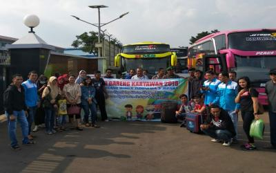 PELEPASAN MUDIK KARYAWAN 2018, PT PARKLAND WORLD INDONESIA 3 JEPARA