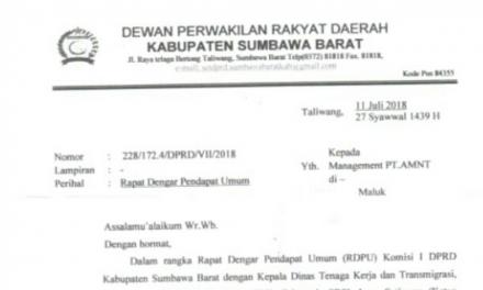 PHK SEPIHAK TERHADAP 34 KARYAWAN PT AMNT