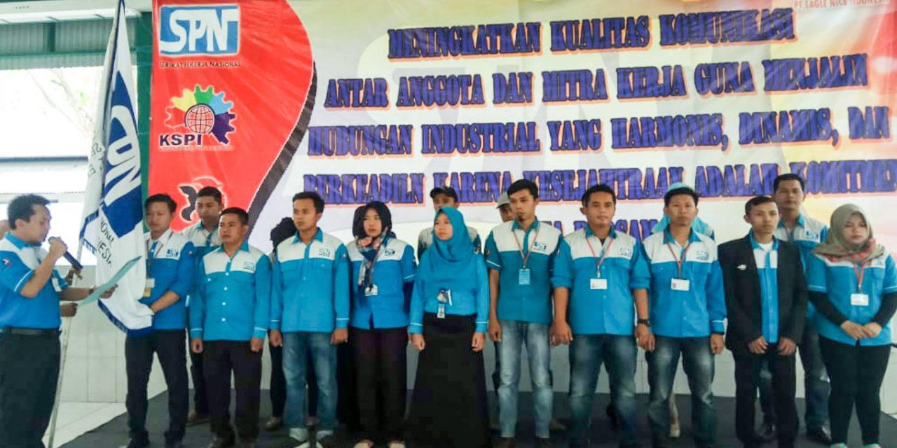 PELANTIKAN KEPENGURUSAN PSP SPN PT EAGLE NICE INDONESIA PERIODE 2018 – 2021