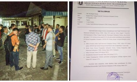 PENGAWALAN RAPAT PLENO UPAH MINIMUM KABUPATEN SERANG TAHUN 2019