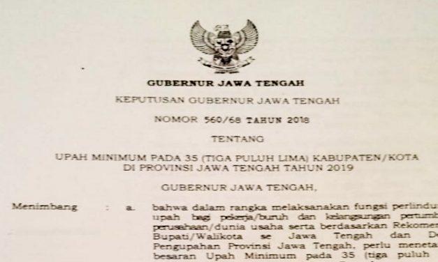 UMK KABUPATEN/KOTA DI JAWA TENGAH 2019