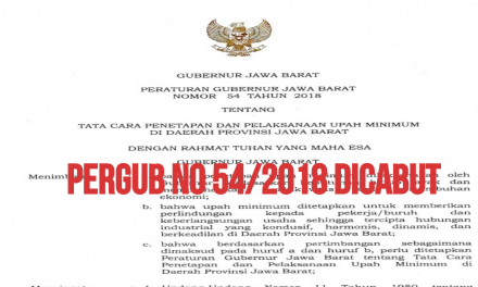 PERGUB NO 54/2018 RESMI DICABUT
