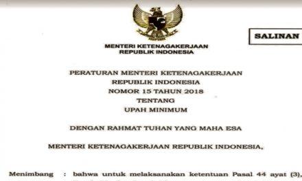 MENGENAL PERMENAKER NO 15/2018 TENTANG UPAH MINIMUM
